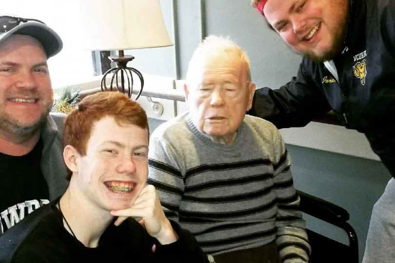 Ryan Jordan and his grandfather Gene