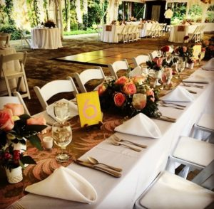 Event planning career: example of a wedding table setting
