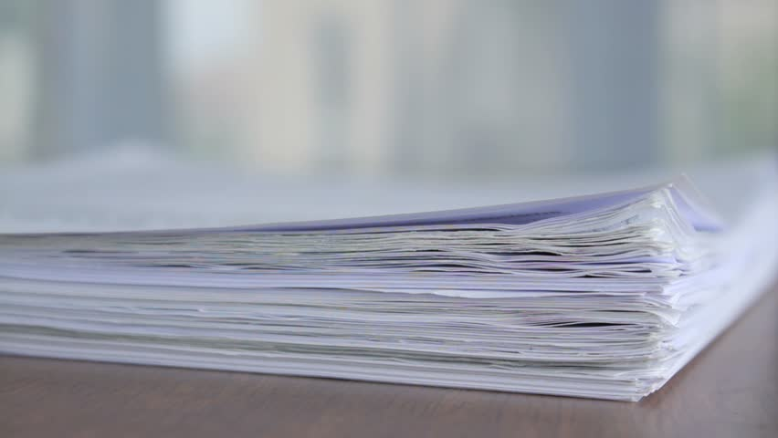 Large stack of printed notes- make sure to only print what you need!